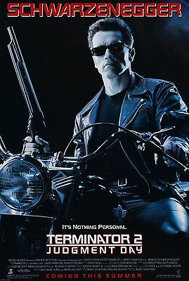 Terminator 2 Judgement Day Poster A4 A3 A2 A1 Cinema Movie Large Format Art