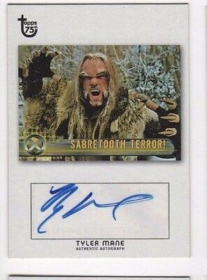 2013 Topps 75th Anniversary auto autograph Tyler Mane SABRETOOTH