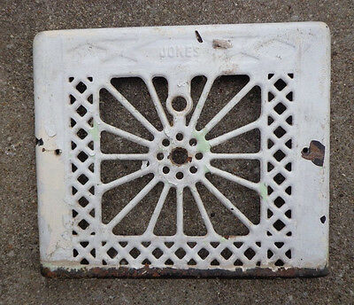 Antique VTG Metal Wall Grate Heat Register Vent Duct Cover Salvage Repurpose
