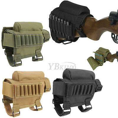 Mutiuse Tactics Cheek Rest Buttstock Ammo Carrier Case Holder For .308 .300