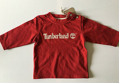 BNWT Timberland Baby 100% Pure Cotton Long Sleeve Top 6 months Red