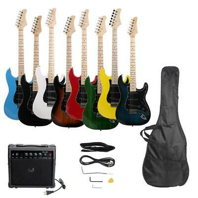 Full Size Electric Guitar + 20 Watt Amp + Gig Bag Case + Guitar Strap Beginners