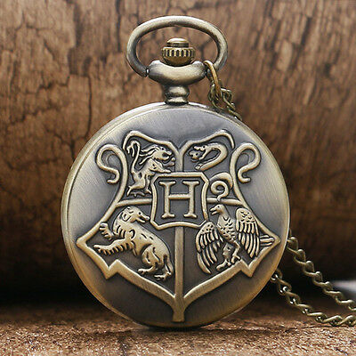 UK HARRY POTTER POCKET WATCH NECKLACE Hogwarts / Jewellery Gift Idea Cosplay