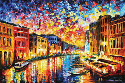 (LAMINATED) Venice Grand Canal POSTER (61x91cm) Leonid Afremov Picture Print New
