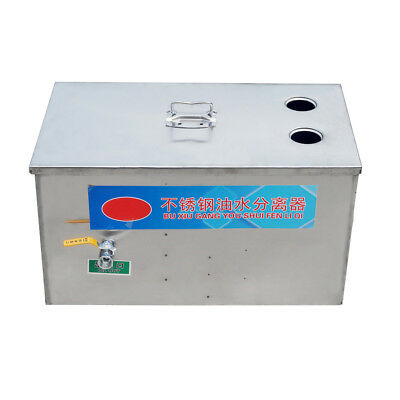 Stainless Steel Grease Trap Interceptor for Restaurant Home Kitchen Wastewater N