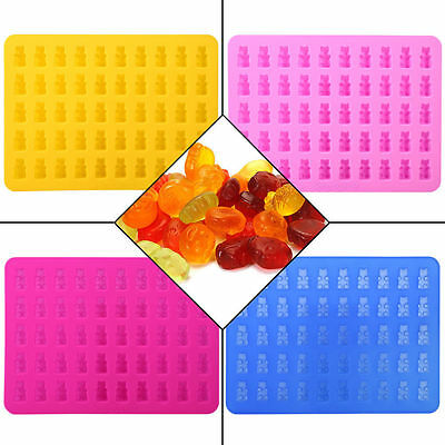 50 Cavity Silicone Gummy Bear Chocolate Mold Candy Maker Jelly Moulds Ice Tray