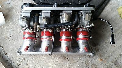 Manifold with ZX9R Bike Carbs - Ford HE Engines