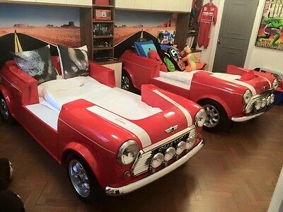 Childs Dream Bed Made From A Mini Cooper Drive N Dream Bespoke Car Bed Topgear