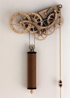 Abong Mechanical Wooden Clock Kit with CNC Laser Cut Parts Free Shipping