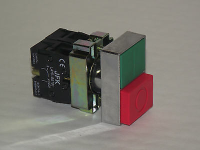 Start Stop Push Button Panel Mount 22mm 1 N/O / 1 N/C NEW & BOXED!!! (PT/A3)