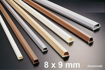 1M Cable Channel Brown 8x9mm Self Adhesive (Connector available)