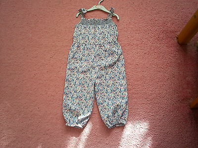 """Girls """"Baby M&Co"""" Blue/Pink Floral Jumpsuit for Age 18-24 months"""