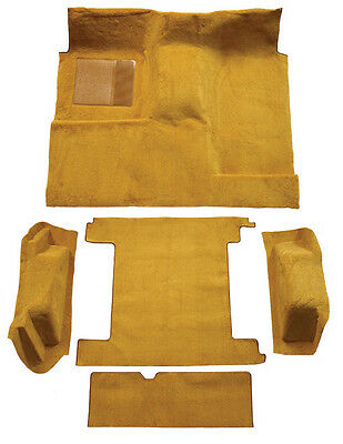1974-1976 Ford Bronco Complete Cutpile Replacement Carpet Kit with 2 Gas Tanks