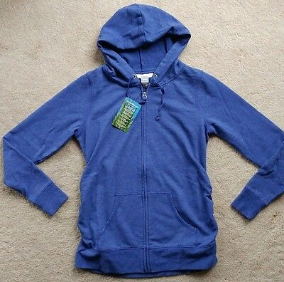 Motherhood Insect Shield Womens Maternity Blue Hoodie Jacket SZ M ~ New
