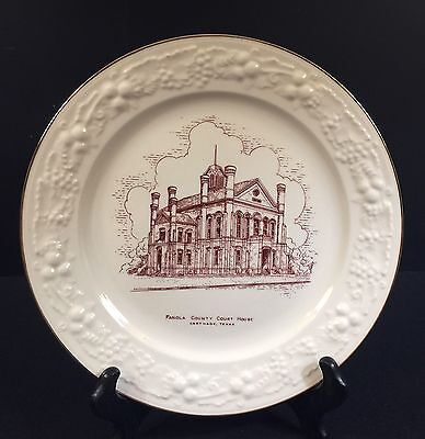 Panola County, Texas Commemorative Courthouse Plate--1950's---Buy It Now!