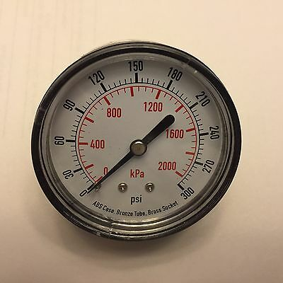 4EFE8 Pressure Gauge, Test, 2-1/2 In 0-300 PSI