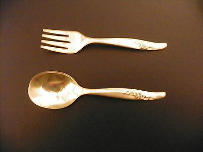 Baby spoon And Fork Silver Onieda 1881