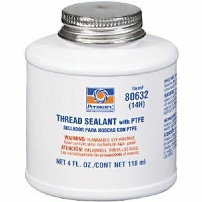 Permatex 80632 Thread Sealant Liquid 4 oz with PTFE Brush Top Can