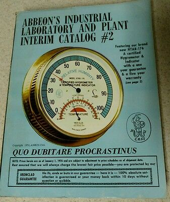 Abbeons Industrial Laboratory And Plant Interim Catalog No. 2 1976