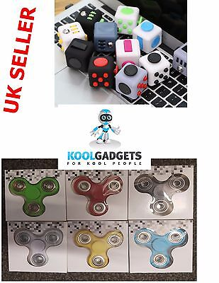 Fidget Spinner & Fidget Cube Combination ADD & ADHD Toy, fun for kids and adults