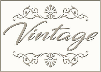 Vintage Sign Stencil Template Home Decor Paint Furniture Card making Crafts QU26