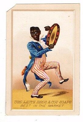 Lautz Bros. & Co. Soap,Buffalo,N.Y. ,Victorian Trade Card (Black Americana)