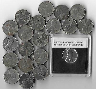 Rare Old WWII US Wartime Collection Special Emergency Issue Steel Coin War Lot