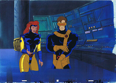 X-Men The Animated Series Original Animation Cel & Hand Painted Bkgd #A20329