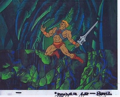 He-Man Masters of the Universe Original Animation Cel & Copy Bkgd #A20177