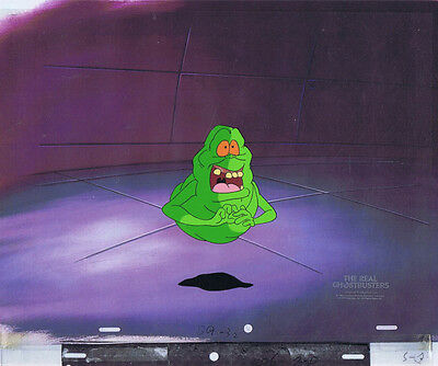 The Real Ghostbusters Original Production Animation Cel & Copy Bkgd #A20795