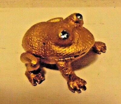 Brass Frog with Blue Eyes