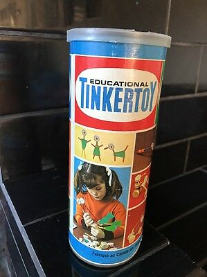 The Classic Tinkertoy Construction Building Toy Set No.106 45 Parts