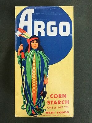 Vintage Unopened Argo Corn Starch Box For Display Only