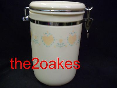"""Corelle Forever Yours Acrylic 58 oz Canister 8"""" Storage Jar"""