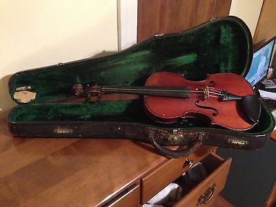 Antique 19th Century European(German/Swedish) Made 4/4 Violin With Coffin Case