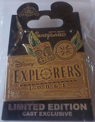 HKDL Disney`s Explorers Lodge Cast Exclusive LE 500 Pin