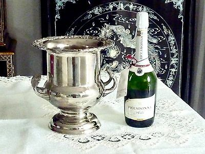 Fabulous Vintage Silver Plated Large Champagne / Ace Bucket