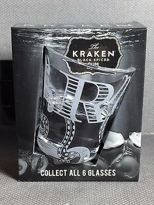NEW Kraken Black Spiced Rum 1 oz Shot Glass - Letter R - NIB