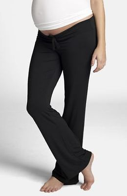 Ingrid & Isabel  Drawstring  Maternity Lounge Pants Black Size Medium $79