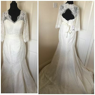 Wedding Dress-Fish Tail-Ivory-Lace-BNWT-Size 8/10