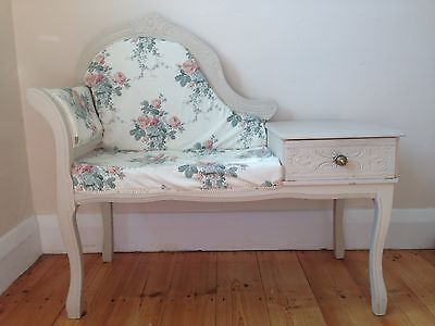 Side Table Chair Seat Vintage Style
