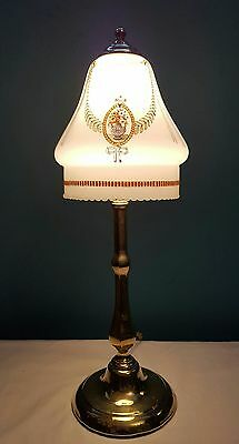 Antique C1920 Edwardian Elegant Cast Brass Table Lamp. Fully Rewired