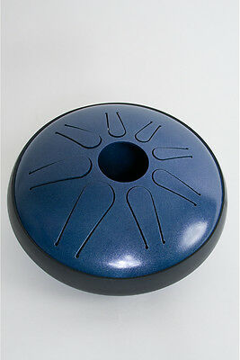 Idiopan Lunabell 8-Inch Tunable Steel Tongue Drum - Oceanic Blue