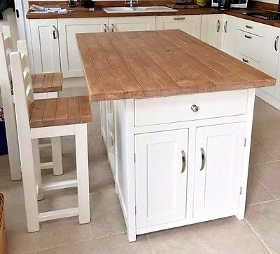 Bespoke Hand Made Kitchen Island with 2 stools made to order