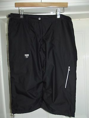 Ladies Green Lamb black cropped trousers size 14