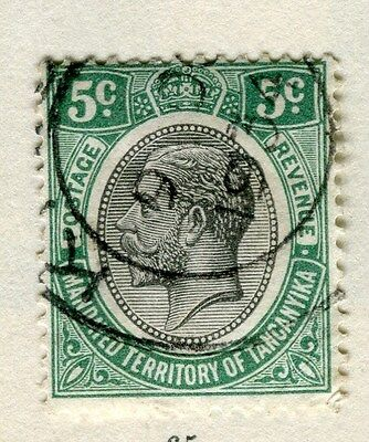 TANGANYIKA;  1927 early GV issue fine used 5c. value