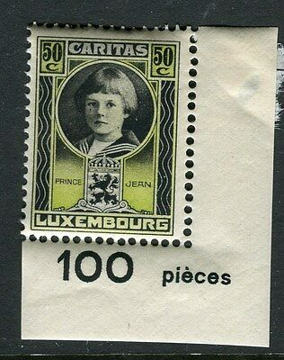 LUXEMBOURG;  1926 Child Welfare issue Mint MNH CORNER 50c. (hinge on margin)