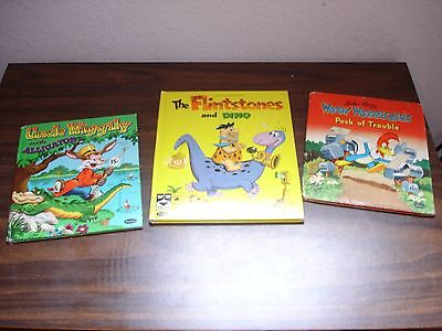 Vintage Whitman Woody Woodpecker The Flintstones Uncle Wiggily 1951, 1961, 1953
