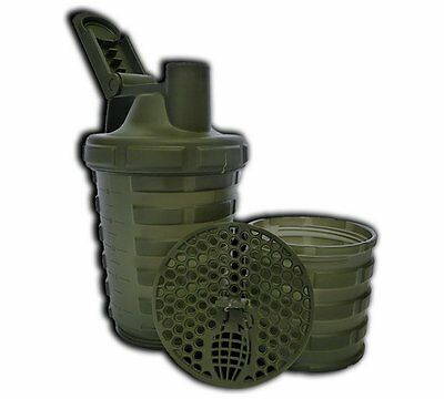 Grenade Shaker Storage Compartment For Powders Which Can Fit A Scoop And Approx