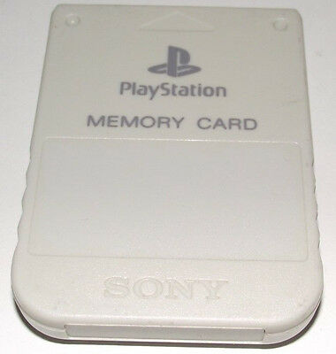 Genuine Sony Playstation 1 Memory Card 1MB Light Grey PS1 PSone
